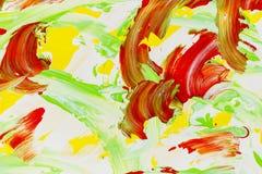 Textura de los colores del remolino de la pintura acrílica del artista del fondo stock de ilustración