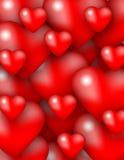 Textura de los corazones Fotos de archivo libres de regalías