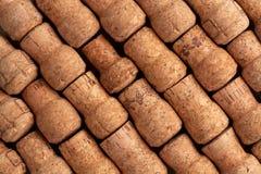 Textura de los corchos del vino de Champán imágenes de archivo libres de regalías