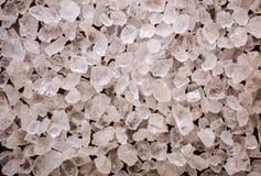 Textura de los cristales de la sal del mar foto de archivo libre de regalías