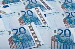 Textura de los euros Foto de archivo libre de regalías