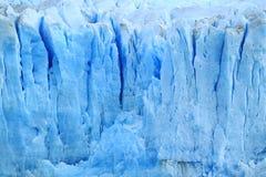 Textura de los glaciares enormes de los azules claros de Perito Moreno en el parque nacional del Los Glaciares, EL Calafate, Pata fotos de archivo libres de regalías