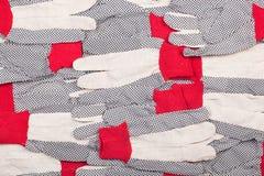 Textura de los guantes protectores Imagen de archivo