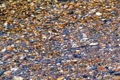 Textura de los guijarros del mar Foto de archivo