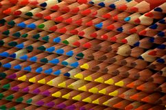 Textura de los lápices del colorante Imagen de archivo libre de regalías