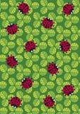 textura de los ladybugs stock de ilustración