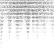 Textura de los números binarios Fotos de archivo libres de regalías