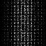 Textura de los números binarios Foto de archivo