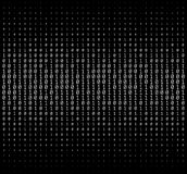 Textura de los números binarios Fotos de archivo