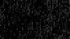 Textura de los números binarios Imagen de archivo