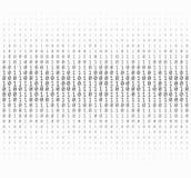 Textura de los números binarios Fotografía de archivo