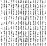 Textura de los números binarios Foto de archivo libre de regalías