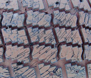 Textura de los neumáticos de coche viejos Imagen de archivo libre de regalías