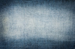 Textura de los pantalones vaqueros del dril de algodón Imagen de archivo libre de regalías