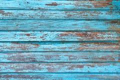 Textura de los tablones de la madera Color azul Imágenes de archivo libres de regalías
