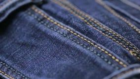 Textura de los tejanos Copos de maíz Primer del dril de algodón metrajes