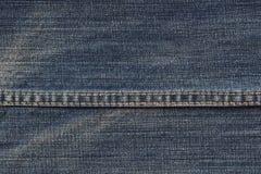 Textura de los vaqueros con las costuras Fotografía de archivo libre de regalías