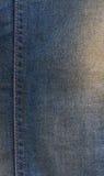Textura de los vaqueros con las costuras Fotos de archivo libres de regalías