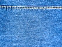 Textura de los vaqueros con las costuras Fotografía de archivo