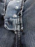 Textura de los vaqueros de la costura Foto de archivo libre de regalías