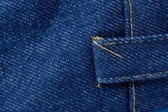 Textura de los vaqueros del dril de algodón Textura del fondo del dril de algodón para el diseño Imagen de archivo libre de regalías