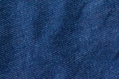 Textura de los vaqueros del dril de algodón Textura del fondo del dril de algodón para el diseño Fotografía de archivo