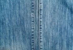Textura de los vaqueros del dril de algodón Foto de archivo libre de regalías
