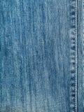Textura de los vaqueros del dril de algodón Imágenes de archivo libres de regalías