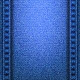 Textura de los vaqueros del dril de algodón con las costuras Foto de archivo libre de regalías