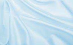 Textura de lujo azul elegante lisa del paño de la seda o del satén como abstra Imágenes de archivo libres de regalías