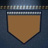Textura de lujo del estilo del bolsillo de Jean Foto de archivo