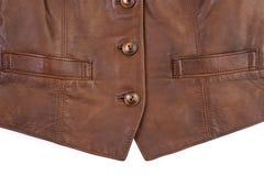 Textura de lujo marrón de cuero Fotos de archivo