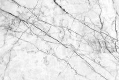 Textura de mármol blanca con las porciones de poner en contraste intrépido que vetean Foto de archivo libre de regalías