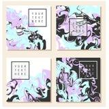 Textura de mármol en tarjeta de la invitación Foto de archivo