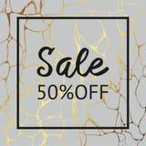 Textura de mármol gris con el oro para la venta Fondo decorativo del vector para la venta Fotos de archivo