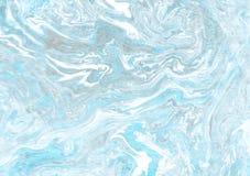 Textura de mármol hecha a mano del suminagashi Fotos de archivo libres de regalías