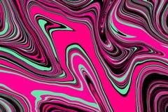 Textura de m?rmol horizontal El efecto de m?rmol del suminagashi o del ebru, la acuarela, el aceite o la pintura salpica el fondo libre illustration