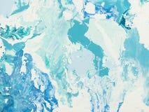 Textura de mármore azul Fotos de Stock Royalty Free