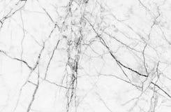 Textura de mármore branca com os lotes do contraste corajoso que veiam Fotos de Stock