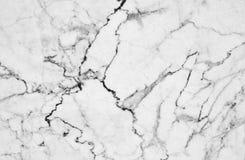 Textura de mármore branca com os lotes do contraste corajoso que veiam Imagem de Stock