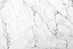 Textura de mármore branca com os lotes do contraste corajoso que veiam Imagem de Stock Royalty Free