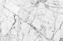 Textura de mármore branca com os lotes do contraste que veiam fotos de stock
