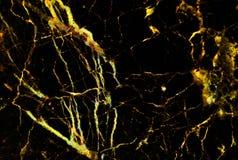 Textura de mármore do ouro com os lotes do contraste corajoso que veiam Imagens de Stock Royalty Free
