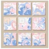 Textura de mármore no cartão do convite Foto de Stock