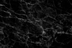 Textura de mármore preta em natural modelado para o fundo e o projeto Imagem de Stock Royalty Free