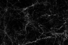 Textura de mármore preta em natural modelado para o fundo e o projeto Fotos de Stock Royalty Free