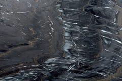 Textura de mármore preta no macro Fotografia de Stock