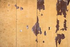 Textura de madeira amarela do vintage para a Web Imagem de Stock