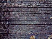 Textura de madeira ardente Imagens de Stock Royalty Free
