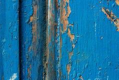 Textura de madeira azul abstraia o fundo Fotos de Stock Royalty Free